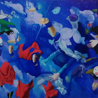 Journey to the west, 110x155 cm, oil on