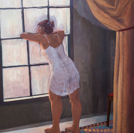 Girl by a window, Oil on canvas, 152x122