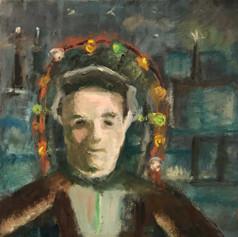 Boaz Levental, Astronaut, oil on canvas.
