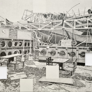 Amir Tomashov, 68 seconds | location no.3,  graphite on paper, 2020, 50x35cm