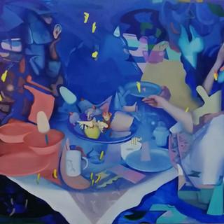Vanille Marille, 120x135 cm,oil on canva