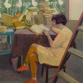 Ladder and Book. 2013, Oil on Canvas, 15