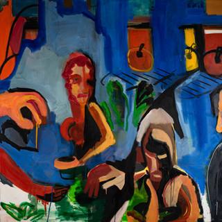 Benninga.look.150x140 cm.oil on canvas.2