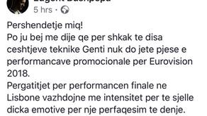 Eugenti anullonturneun promovues para Eurovisionit