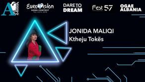 Jonida Maliqi wins FiK 57 and gets the ticket for Tel Aviv