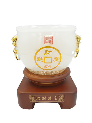 White Jade Pot of Wealth