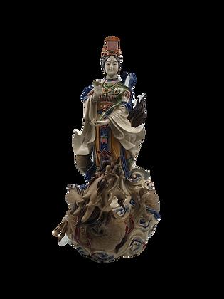 Goddess of Mercy with Dragon 站龙观音