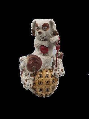 Ceramic dog ornament