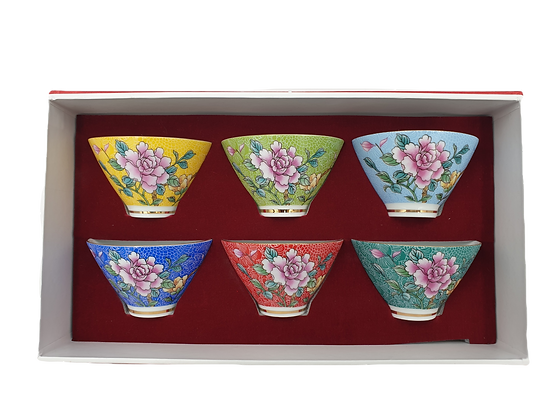 Flower Tea Cup Set of 6