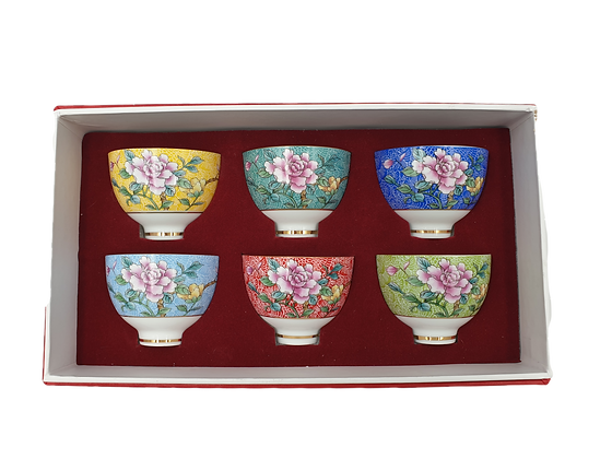 Round Tea Cup Set of 6