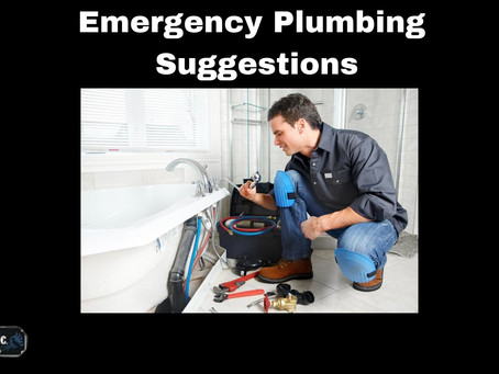 Suggestions In Case Of Emergency Plumbing