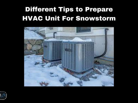 Different Tips to Prepare HVAC Unit For Snowstorm