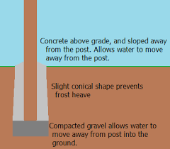 Install a long lasting cedar fence post
