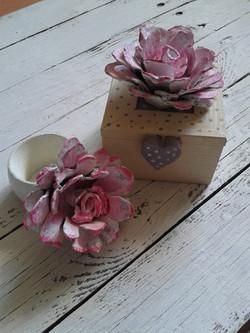 Bomboniera fiore carta + segnaposto