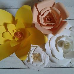 fiori di carta sfondo fotografico