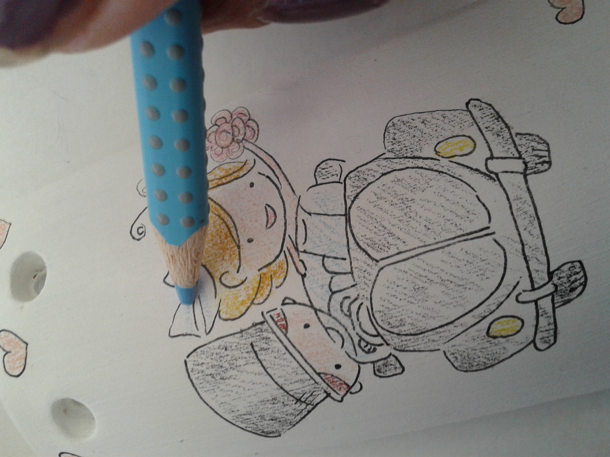 bomboniere tegola dipinta