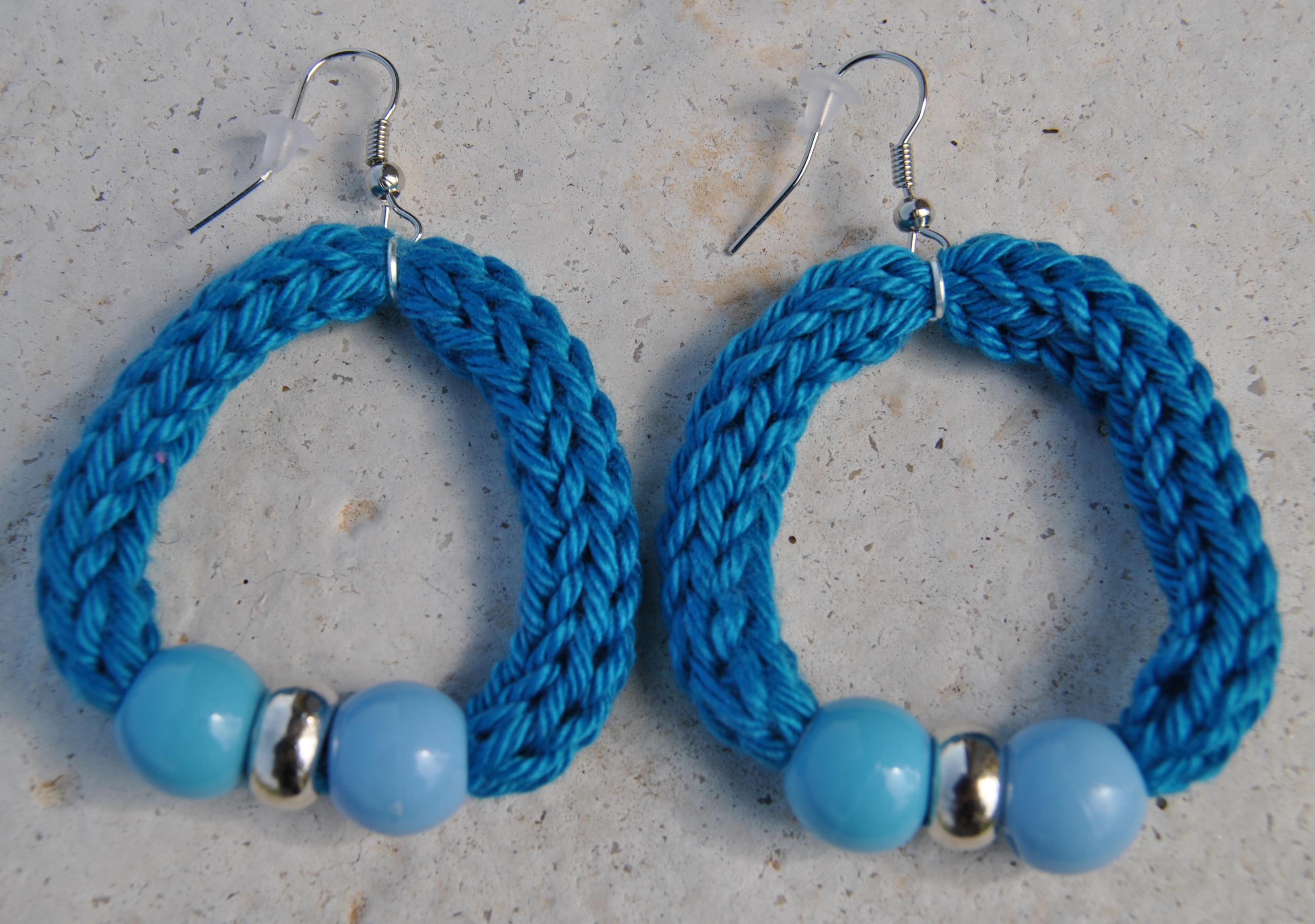 orecchini azzurro