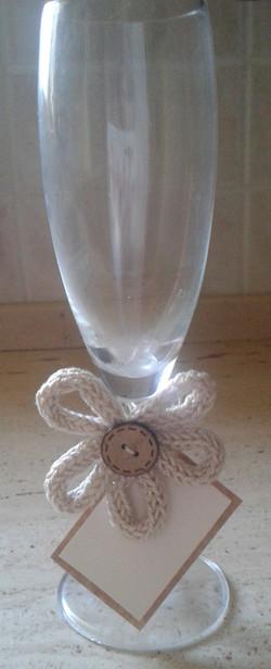 segnaposto bicchiere con fiore