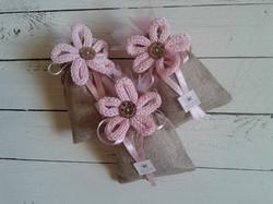 Bomboniere fiore tricotin