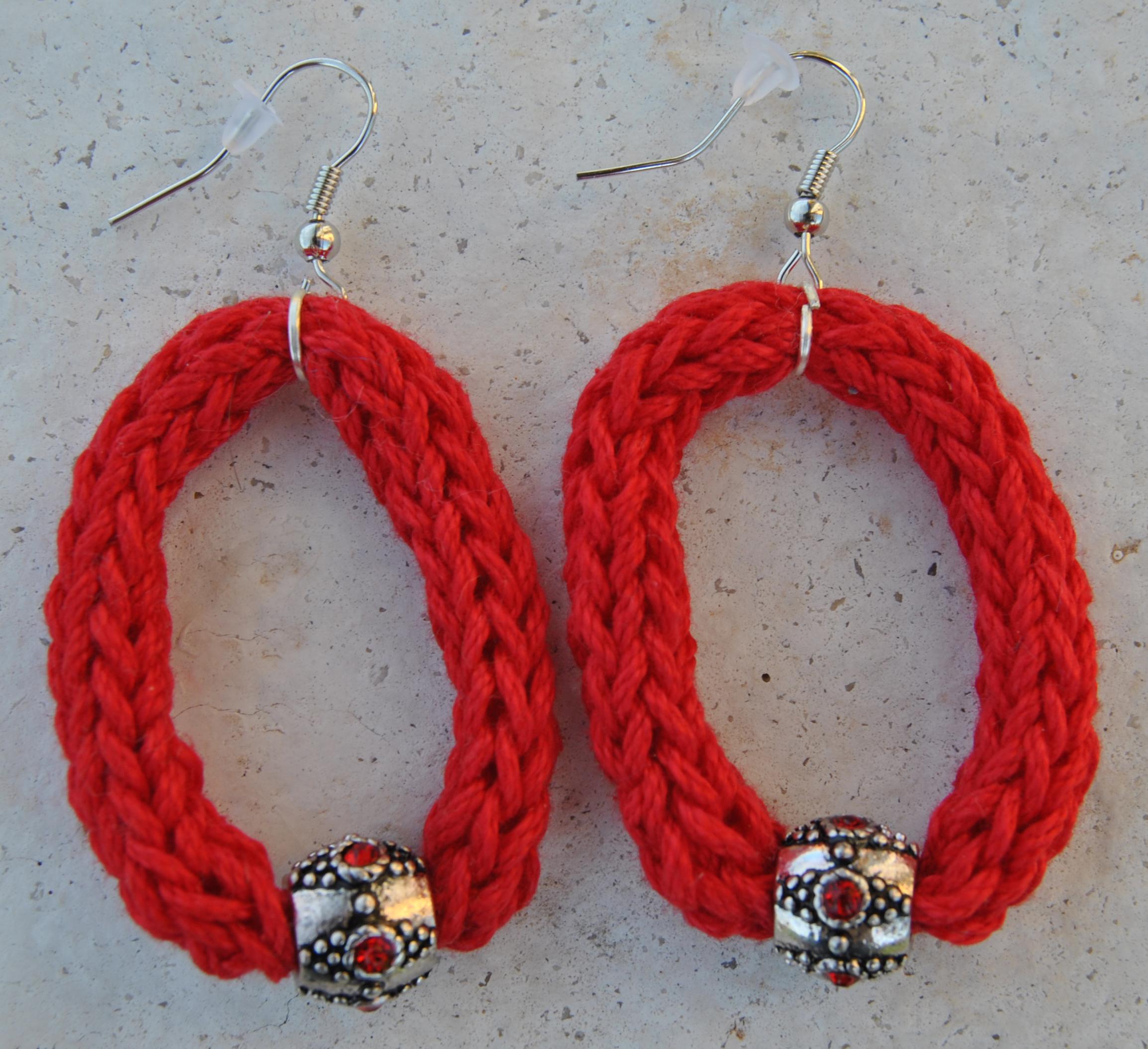 orecchini rosso