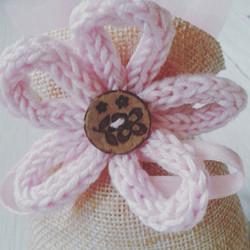 Bomboniera fiore tricotin