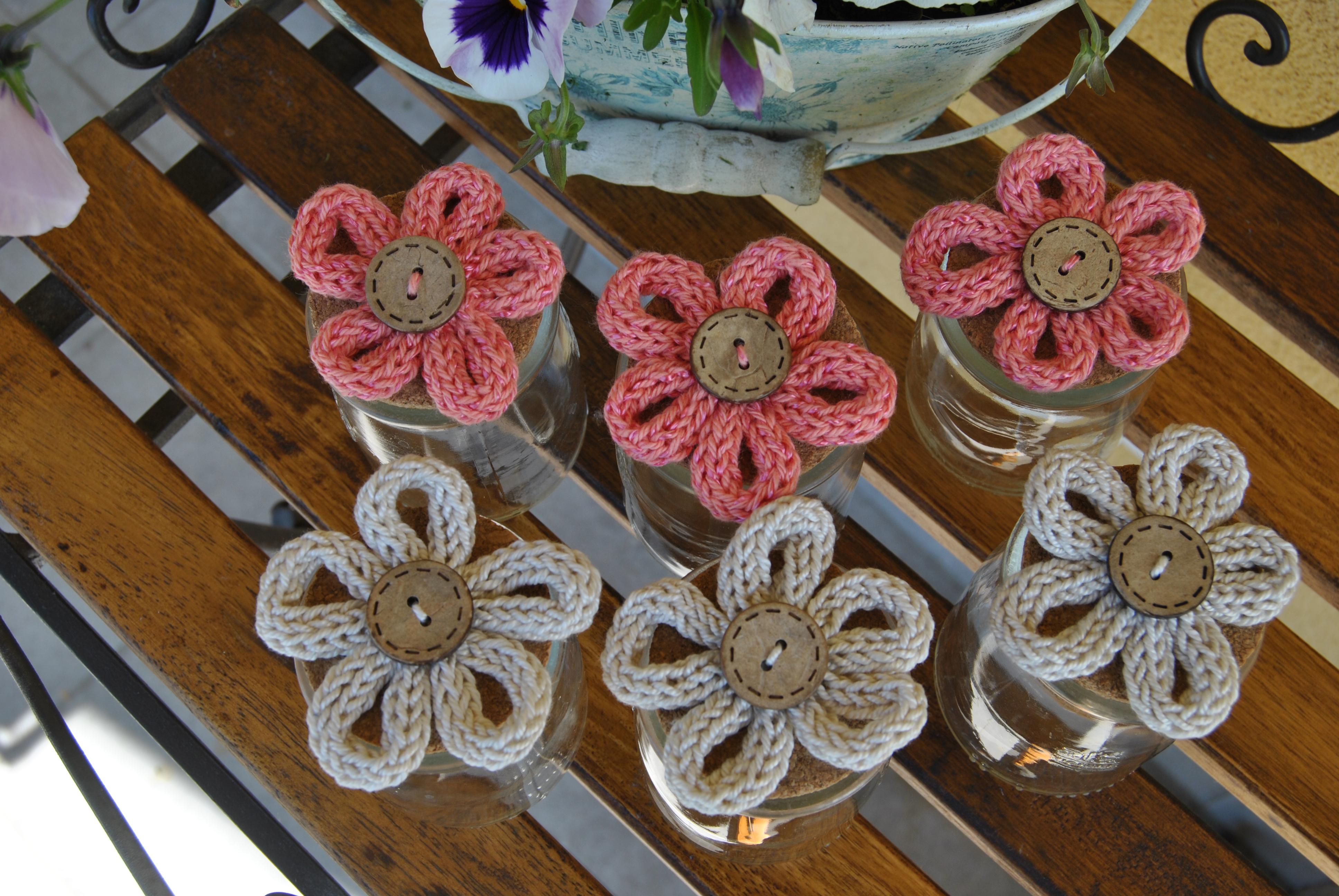Bomboniere fiore tricotin vasetto