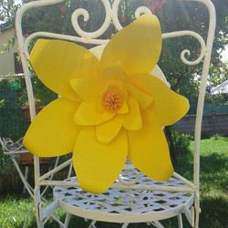 fiore carta decorazione sedia festa
