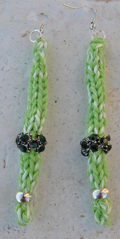 orecchini pendente verde