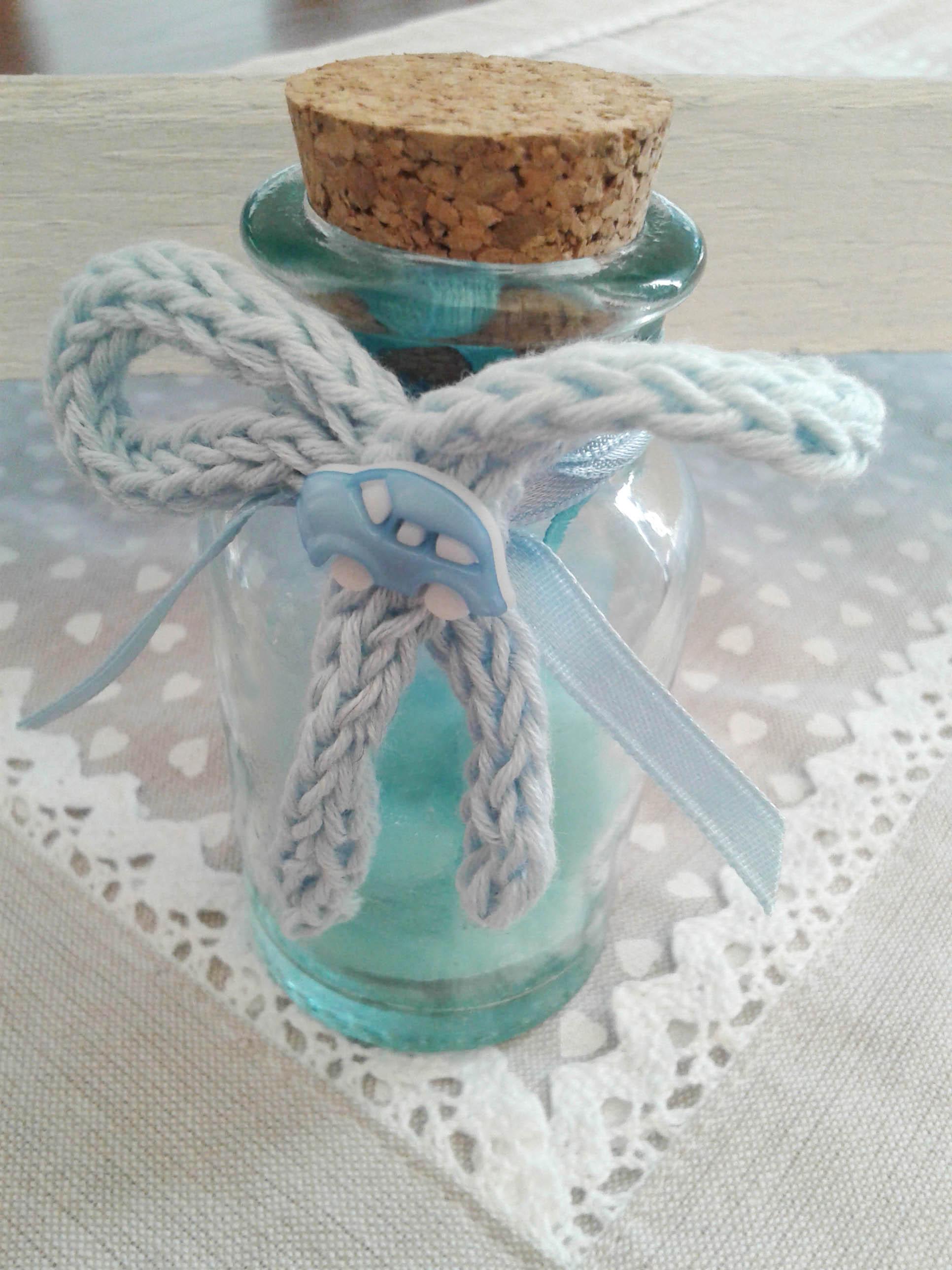 Bomboniera vasetto fiocco tricotin