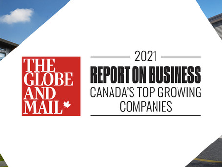 Impact Drywall Makes Globe and Mail's Top Growing Companies List: Again!