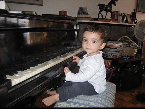 Me as a #baby playing with the piano (#1
