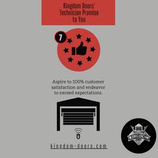 Promise #7 Customer Satisfaction