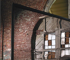 Carriage House polished metal mirror gar