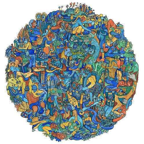 """Abundant Blue"" art print"