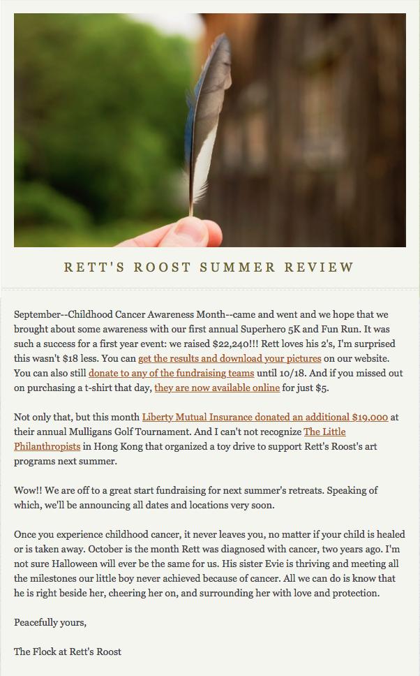 Rett's Roost Summer Review