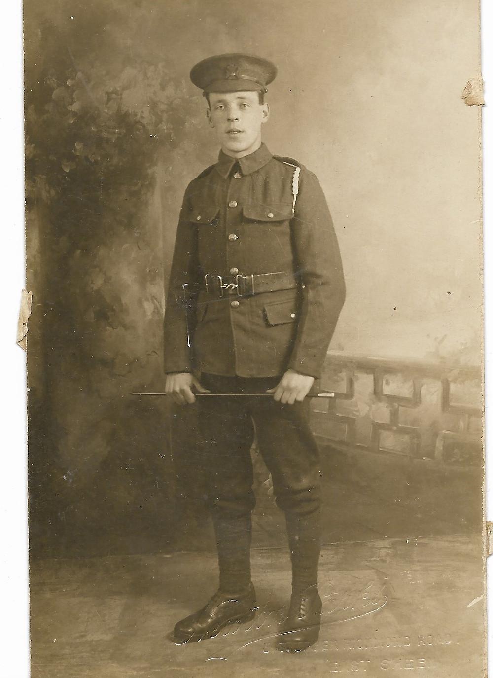 Charlie Clark in WW1 uniform.