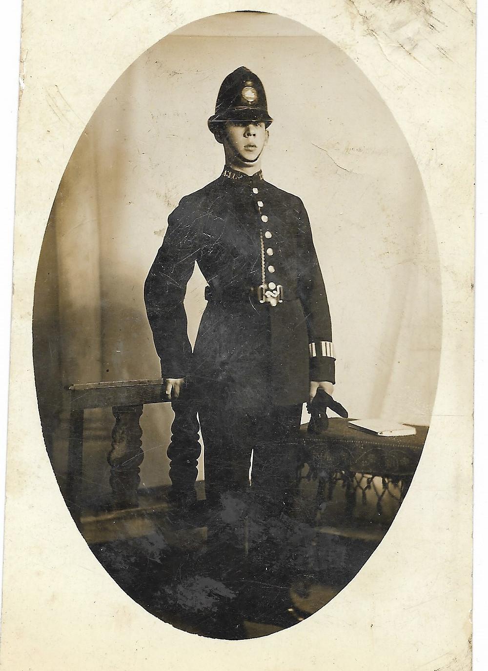 Tom Clark in his police uniform.
