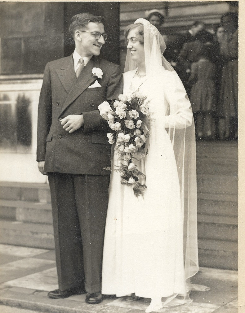 The wedding of Ada and Sam in the 1920's