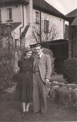 1950's couple just married