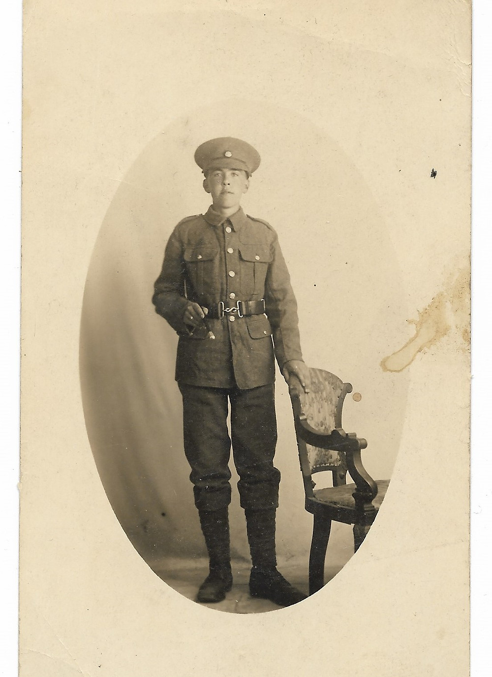 Sam Clark in WW1 uniform.