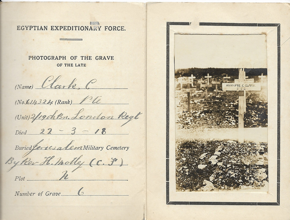 Charlie Clark's grave Jerusalem