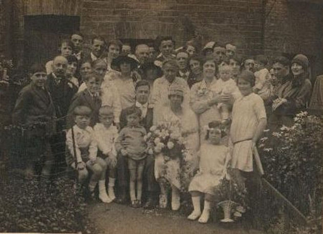 1920's wedding picture