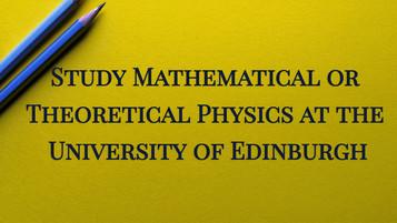 PhD Applications at the University of Edinburgh