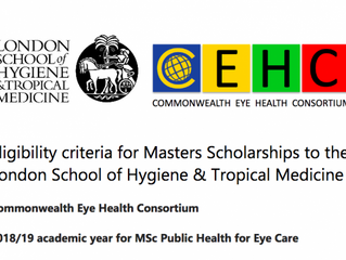 Fully funded Masters in Public Health for Eye Care at the London School of Hygiene & Tropical Me