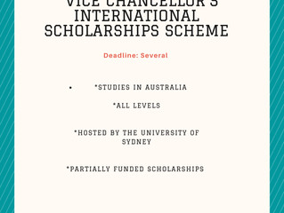 Vice Chancellor's International Scholarship Scheme | Scholarships for international students