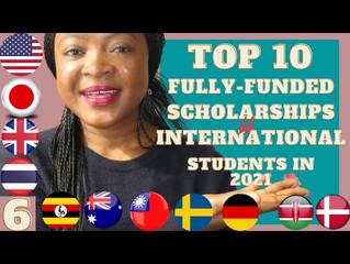 Top 10 Fully Funded Scholarships for international students 2021 (Apply now)