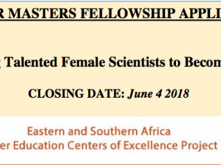 The World Bank ACE II  Masters Fellowship for Young Talented Female Scientists from Eastern and Sout