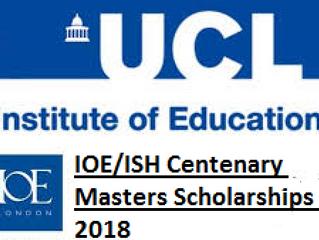 IOE-ISH Centenary Doctoral Scholarship for international students, 2018