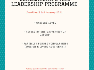 The Oxford-Weidenfeld & Hoffmann Scholarships and Leadership Program
