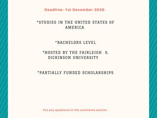 Fairleigh S. Dickinson Scholarship I Scholarships for International Students